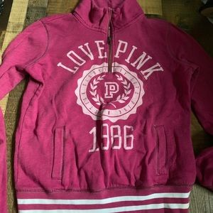 PINK Victoria's Secret half zip hoodie